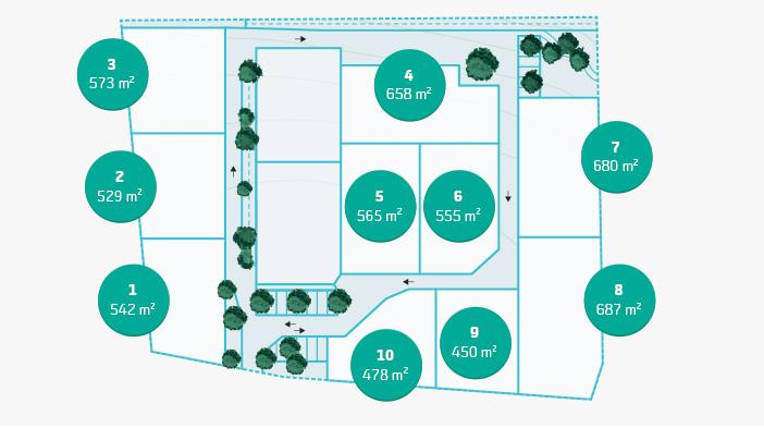 EcoQuartier Le Cormier - Plan au sol des terrains